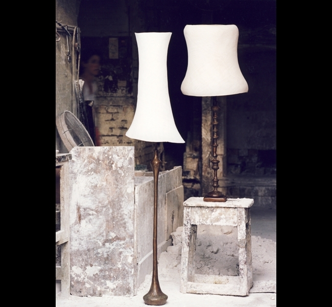 Elegant and gracious bronze lamps made by Hannah Woodhouse and photographed in her foundry.