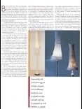Beautiful plaster floor lamps by Hannah Woodhouse with hand made sculptural lampshades made in gossamer and voile