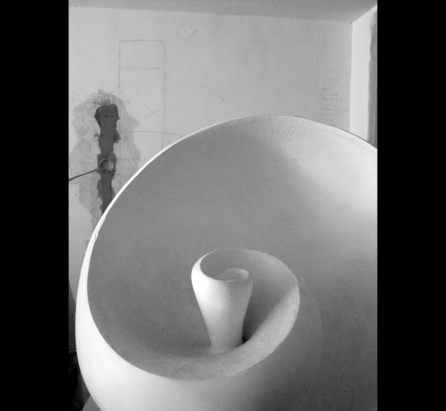 Colossal Spiral in plaster